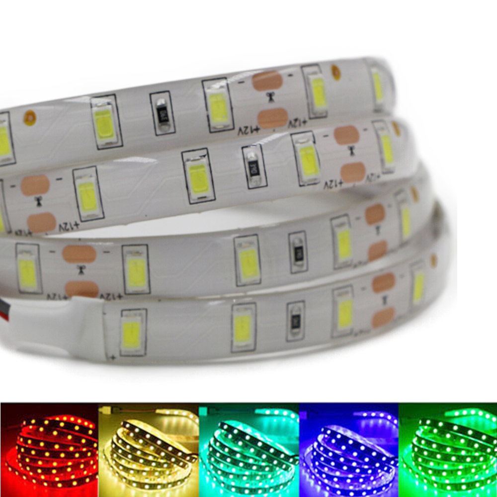 Super Bright 1m 2m 3m 4m 5m SMD 5630 LED strip flexible light DC 12V Waterproof Fita 60leds/m 3M tape diodes lamp Lampada White 0 5m 1m 2m 3m 5m elbow up