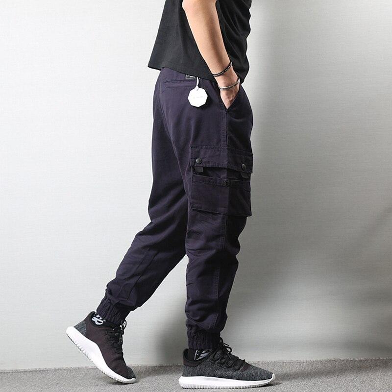 Américain Grande Green Japonais Homme Fit Mode Hop bleu Noir Poche Pour Cargo army Loose Hommes Jean Pantalon Streetwear Style kaki Hip Hombre Joggeurs r41zqrW