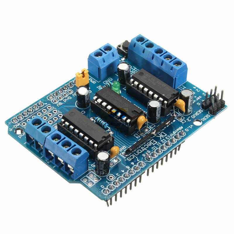 Official iSmaring Motor Drive Shield L293D Module for Arduino Duemilanove Mega / UNOMotor Drive Shield L293D Module Diy RC Toy K