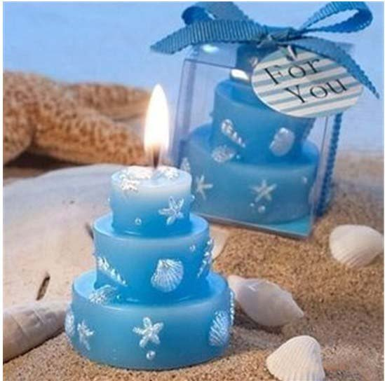 Free ShippingWholesaleSmall Gift Wedding Supplies Events Party 4 Color Birthday Cake Candle