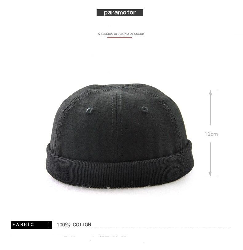 Fgss nuevo color sólido sombrero arrendador salvaje melón cuero ...