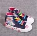 new fashion Kids Children canvas shoes Girls cotton sneaker Child  boots zipper bow baby tenis for kids trainer sport falt shoe