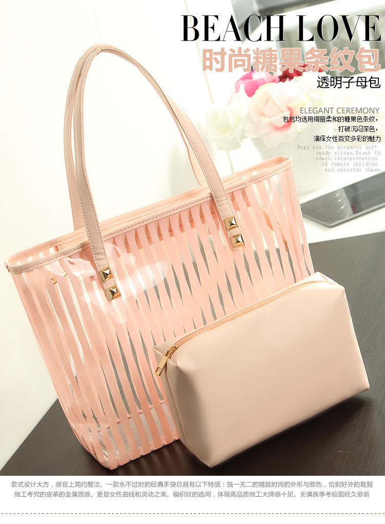 Por Women Summer Handbag Shoulder Candy Pvc Clear Beach Bag Transparent Handbags Tote For In Bags From Luggage