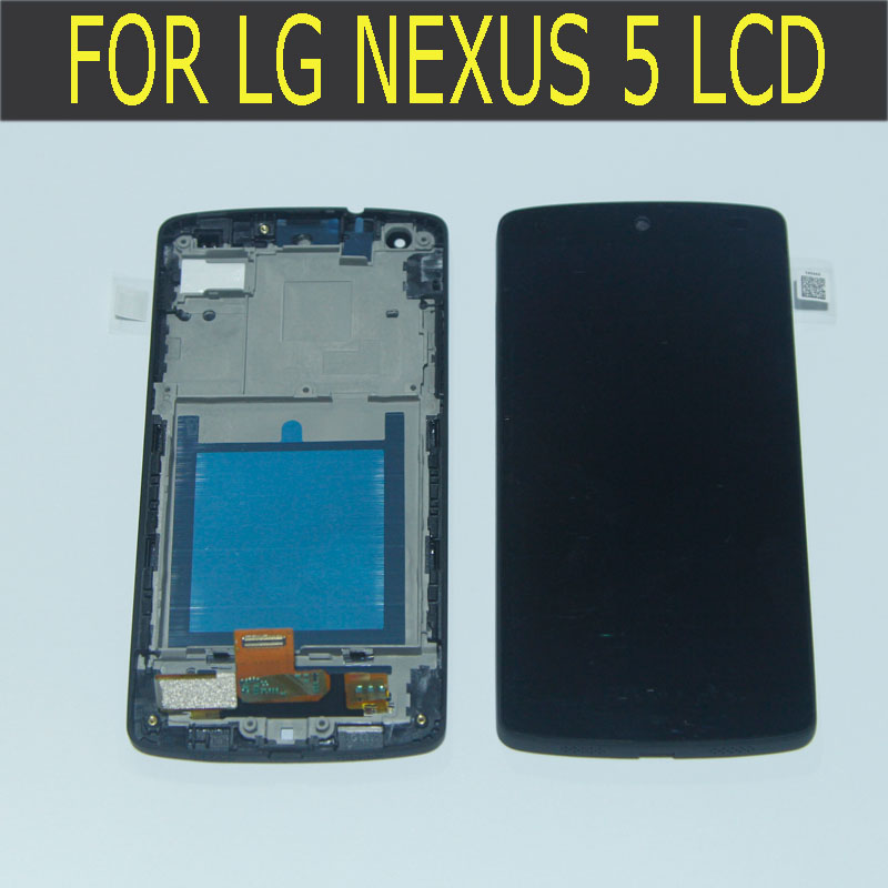 100% tested LCD for LG Google Nexus 5 D820 D821 lcd display Touch Screen Assembly with frame new lcd touch screen digitizer with frame assembly for lg google nexus 5 d820 d821 free shipping