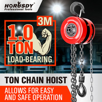 Block And Tackle Chain Block Hoist 1 Ton 3m Chain Lift Pulley Hoist Tool NEW