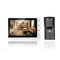 Hot Vender 1V1 Wired Telefone Video Da Porta Sistema Intercom Doorbell Home Security Camera Monitor Night Vision 9 Polegada Tela de LCD