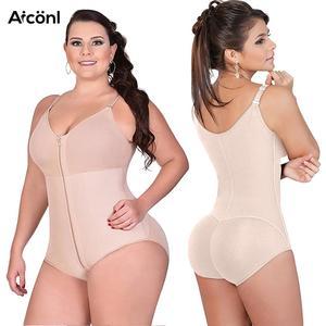 Image 1 - Shapewear נשים בגד גוף דוגמנות רצועת הרזיה מחוכי בקרת הלבשה תחתונה גוף shaper התחת מרים מתקנת תחתונים סקסי