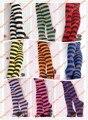 La venta caliente linda Maid chica Multicolor Striped Cosplay calcetines
