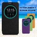 Для Asus Zenfone 2 ZE550ML ZE551ML Кожаная Сумка Обложка Смарт Вид из окна Кожаный Чехол для Asus Zenfone 2 ZE550ML ZE551ML 5.5-inch
