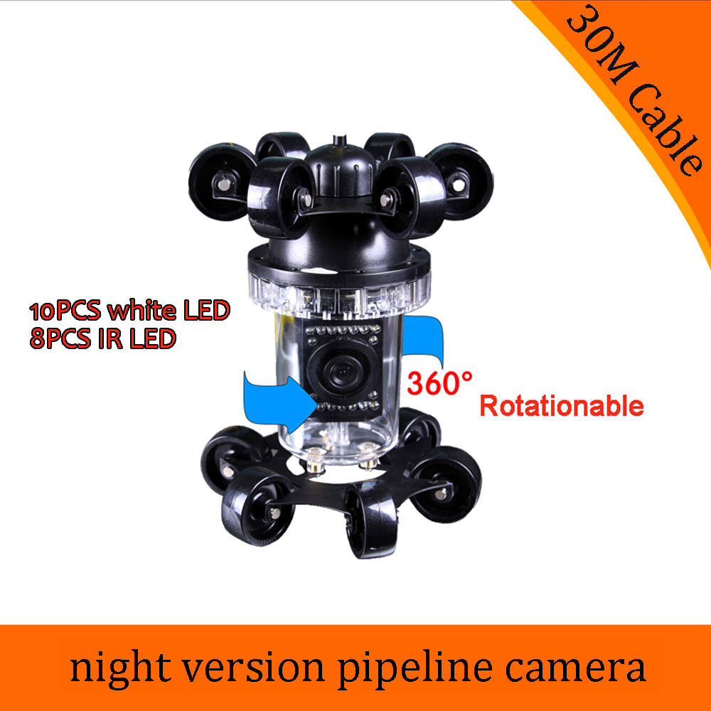 (1 PCS) 30M cable Pipe inspection Well endoscope Underwater Camera waterproof CCTV system accessories Night version IP68 sewer