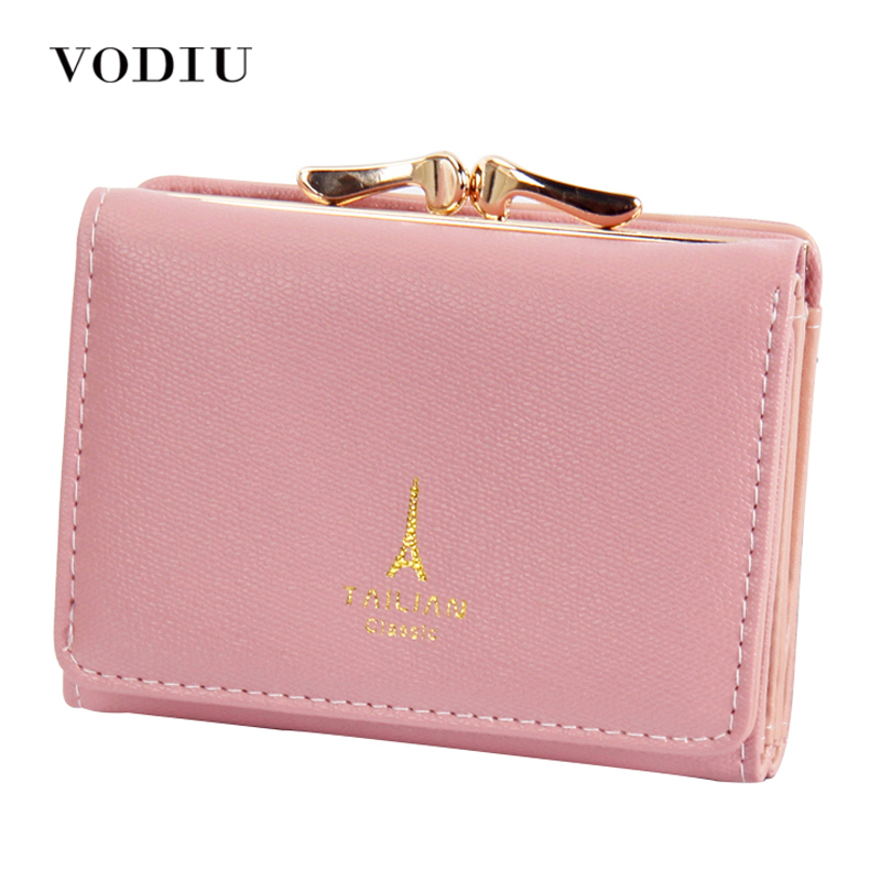 Wallet Female Cute Leather Women Wallets Coin Purses Three Fold Candy Color Card Holder Small Purse Moeny Pocket Clutch Wallets new design hasp wallets cute pokemon go wallet pocket monster purses pikachu wallets cartoon children best present wallets
