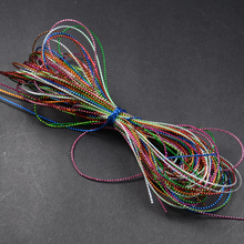 FT10 15bags(30m)/set Mixed 10 colors Fly Tying Glitter Rib Chironomid Trout Nymph Braid Tinsel Thread Lines Hareline набор даббингов hareline trout ice dub