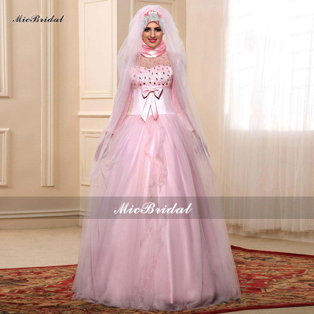 Popular islamic bridal dresses buy cheap islamic bridal for Arabic wedding dresses with hijab