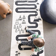 INS детский игровой коврик для ползающего ребенка, одеяло, мультяшный детский игровой коврик, игрушки для детей, детская ватная одежда, коврики для пола