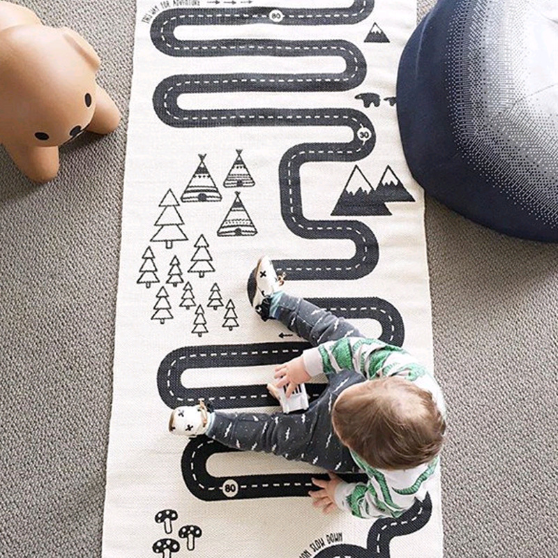 INS Infant Adventure Game Pad Baby Crawling Blanket Cartoon Baby Play Mat Toys For Children Kids