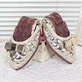 Женская Обувь Повседневная Женская Обувь Квартиры Моды Натуральная Кожа И Резиновые Подошвы Для Мокасины Обувь Плюс Большой Размер 35-43