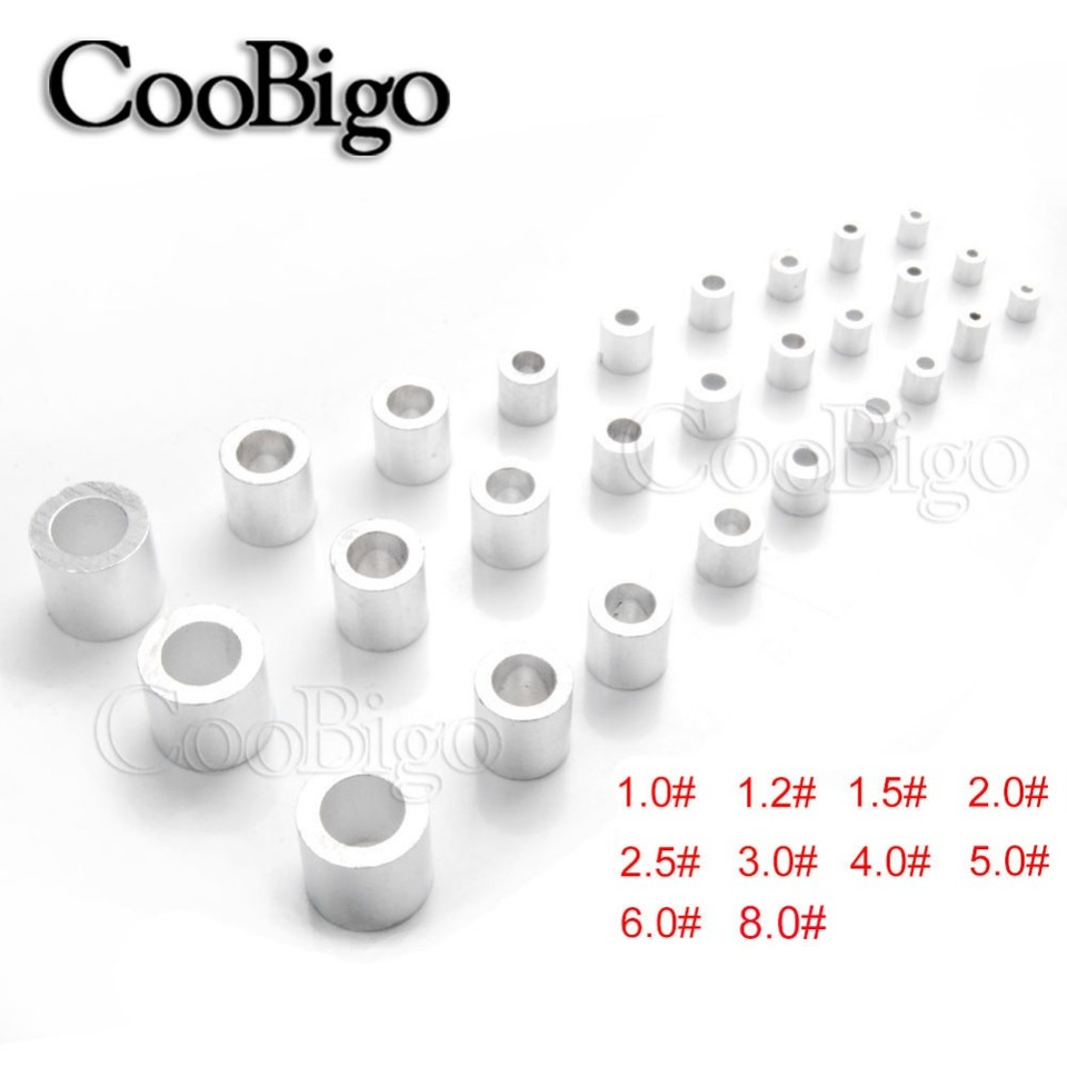 M1.0~M8.0 Aluminum Wire Rope Cable Crimping Button Stopper Sleeves Clip Fittings