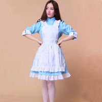 New Sexy Sweet Gothic Lolita Dress French Maid Costume Anime Cosplay Sissy Maid Uniform Plus Halloween Costumes For Women S XL
