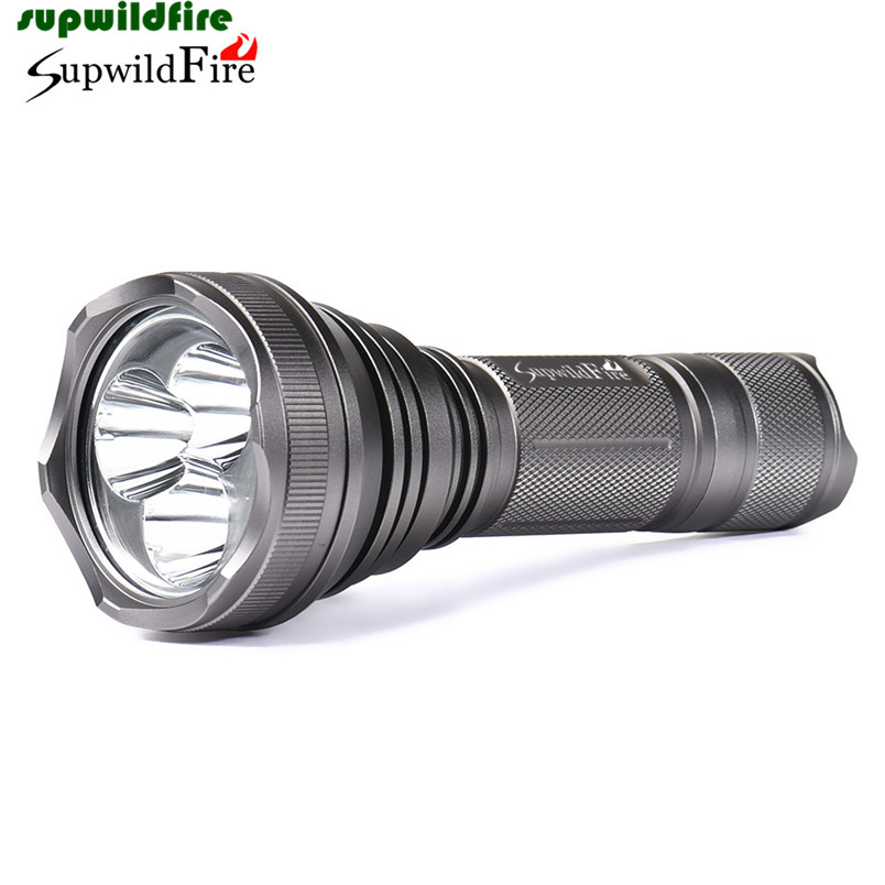 HOT!!! SupwildFire 8000Lm 3 x XM-L T6 LED 5-Mode 18650 Flashlight Torch Light Lamp Free Shipping #NO31 hot xlightfire 30000 lumens 12 x xml t6 5 mode led flashlight 3 x 18650 battery free shipping nn01