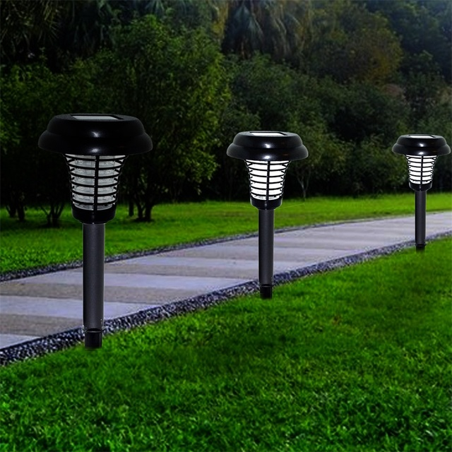 Anti Mosquito Plug In Earth Solar Lamp Waterproof Street Lights Garden  Lights LED Solar