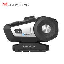 Mornystar M3 Bluetooth мотоциклетный шлем Интерком FM Переговорная гарнитура+ мягкий микрофон для полного лица шлем