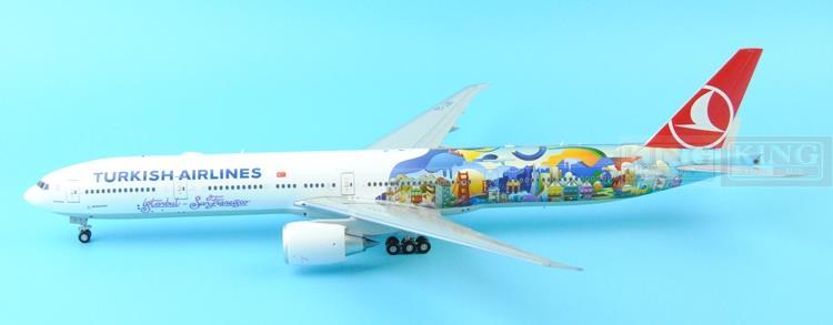 Wings XX2790 JC Turkey Spike: Airlines TC-JJU 1:200 B777-300ER commercial jetliners plane model hobby