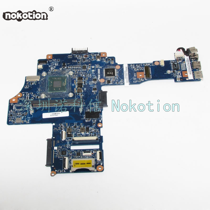 NOKOTION H000079490 Main Board For Toshiba Satellite C40-B Laptop Motherboard N2830 CPU Onboard DDR3 Full tested nokotion genuine h000064160 main board for toshiba satellite nb15 nb15t laptop motherboard n2810 cpu ddr3