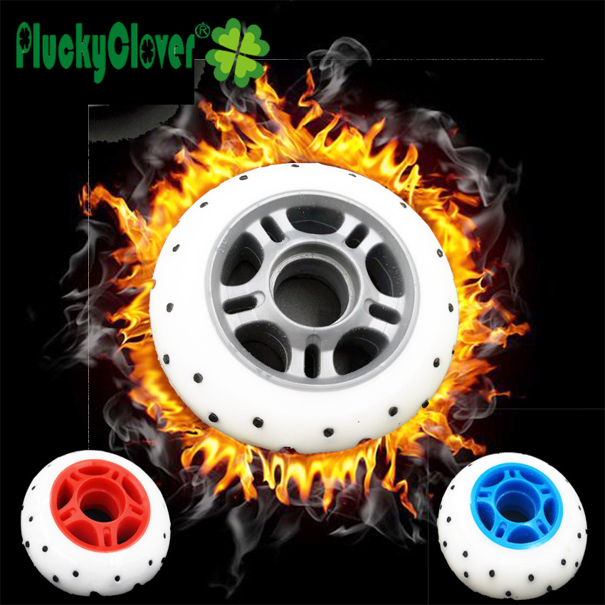 Prix pour 4 pcs/lot Étincelle inline skate roue 85A Flash patin à roulettes wheel72 76 80mm roue 52 flint Fire stone clignotant roue pour SEBA skate