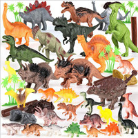 44pcs/set Mini Animals Dinosaur Simulation Toy Jurassic Play Dinosaur Model Classic Ancient Collection For Boys 2018 New