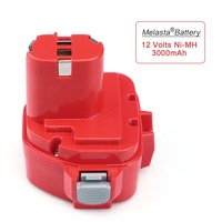 MELASTA Upgrade 12v 3000mAh NIMH Replacement Battery For Makita 1220 PA12 1222 1233S 1233SA 1233SB 1235