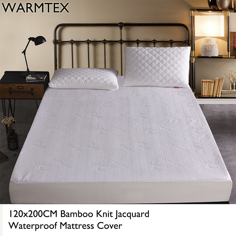 WARMTEX 120x200CM Bamboo Fiber Jacquard Waterproof Mattress Protector Dust Mite Cover 100% Waterproof Mattress Cover W014