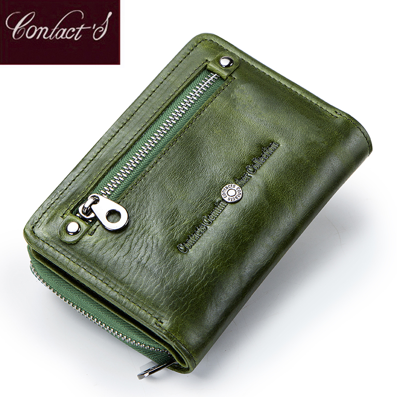 NEW Fashion Women Wallets Zipper Short Wallet Female Coin Purse And Card Holders Handbag Genuine Leather Clutch Bag For Ladies