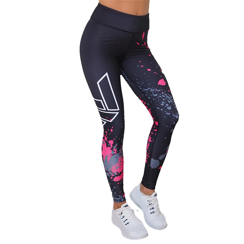 91718d8a6d Women Printed Sports Yoga Pants Casual Running Leggings Women Sexy Workout  Leggings Fitness Athletic Pants Colorvalue