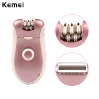 2 In 1 Double Function Rechargeable Electric Women Epliator Shaver Hair Remover For Armpit Bikini Legs
