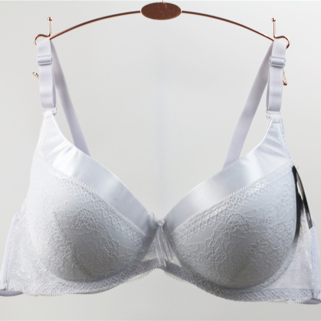 8d90354aaafc1 Dainafang Soft Cup Bras For Plus Size Women Sexy White Lace Bralette Push  Up Bra Nylon