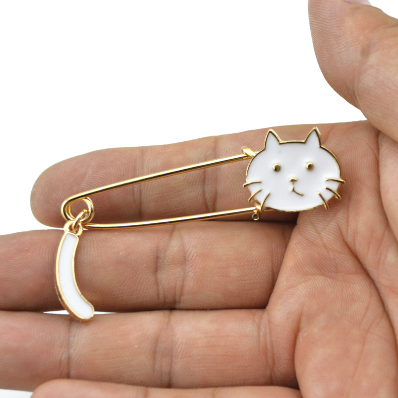 Fashion Lovely Enamel Cat Lapel Pin Brooch For Suit Accessories Brooches Women Wedding Party Jewelry Wholesale 12 Pcs