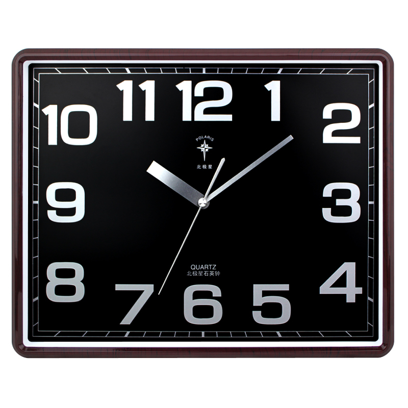 Polaris 16 Inches Square Luminous Living Room Mute Fashion Quartz Watch Pocket Ikea Office Wall