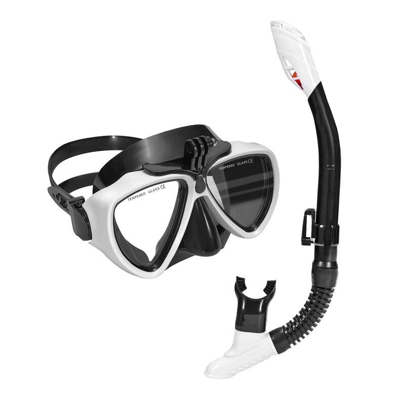 Divers Mask And Snorkel Goggles Set Dive Snorkeling Scuba Diving