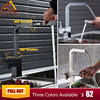 Quyanre Square Pull Out Kitchen Faucet Chrome Nickel Black Faucet Single Handle Mixer Tap 360 Rotation