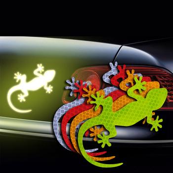 2 sztuk samochodów odblaskowa naklejka ostrzeżenie o bezpieczeństwie Mark samochody zewnętrzne akcesoria samochodowe jazda nocą ostrzeżenie Gecko Strip odbłyśnik tanie i dobre opinie NoEnName_Null Paski odblaskowe 2pcs Blue Red Yellow White Green 12 5cm*9cm Reflective sticker 2019 China DG3 Diamond grade