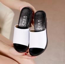 women  slippers Super stylish summer slipper for with beautiful wedge heels and sexy high quality leather