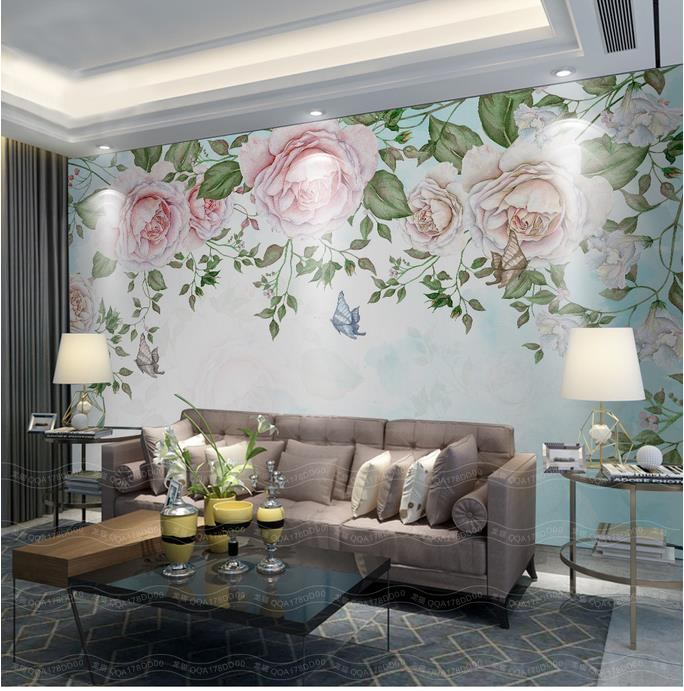 3d wallpaper custom photo mural non-woven Retro flowers petals TV background wall 3d painting living room wallpaper for walls 3d 3d wallpaper for walls custom wall mural non woven wall paper modern world map living room sitting room sofa backdrop home decor
