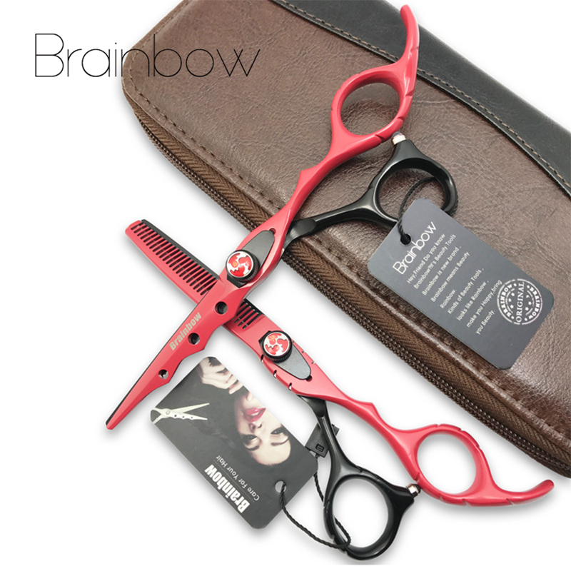 Brainbow 6.0 'Japan Friseurschere Haarschneide Effilierschere Set Friseurschere Tijeras Pelo