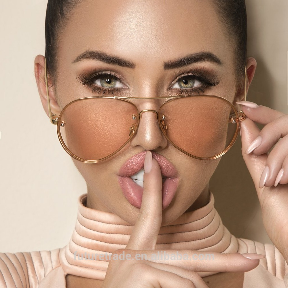 New Fashion Lens Mirror aviation Sunglasses Women Stylish Pilot Sun Glasses Lady Men Metal Frame Eyewear High Quality