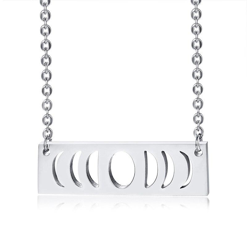 Stainless Steel Pendant Triple Goddess Symbol Adjustable Choker