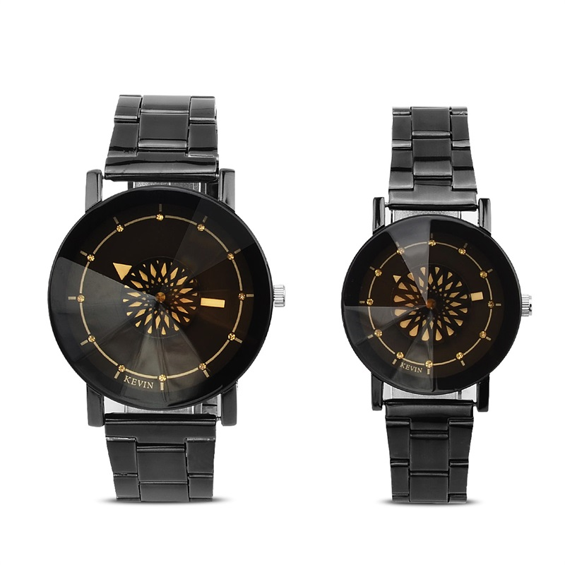 KEVIN Creative Rotating Flower and Eiffel Tower Pattern Watch Men Women Round Case Pointer Quartz Wristwatches Couple Watches стоимость