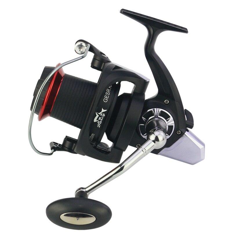 Nouvelles roues filantes moulinet de pêche métal CNCrocker pêche EVA grip pesca 13BB + 1 olta roue distante carpe de poisson moulinets de pêche en rotation