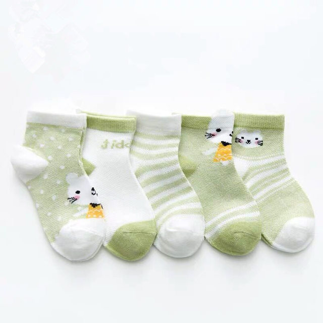 lejia 3 Pair Baby Socks Cute Cartoon Socks Newborn Infants Boat Socks Antislip Socks Accessories Decorative Socks Color : AKW 01, Kid Size : 3M