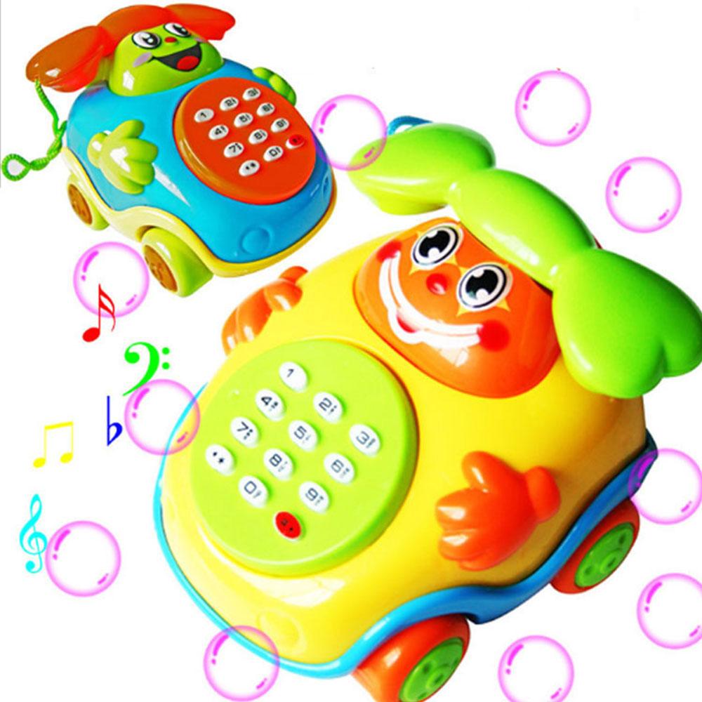 Educational Phone Education Lovely Phone Toys Toy Phone Sound Plastic Music Cartoon Phone