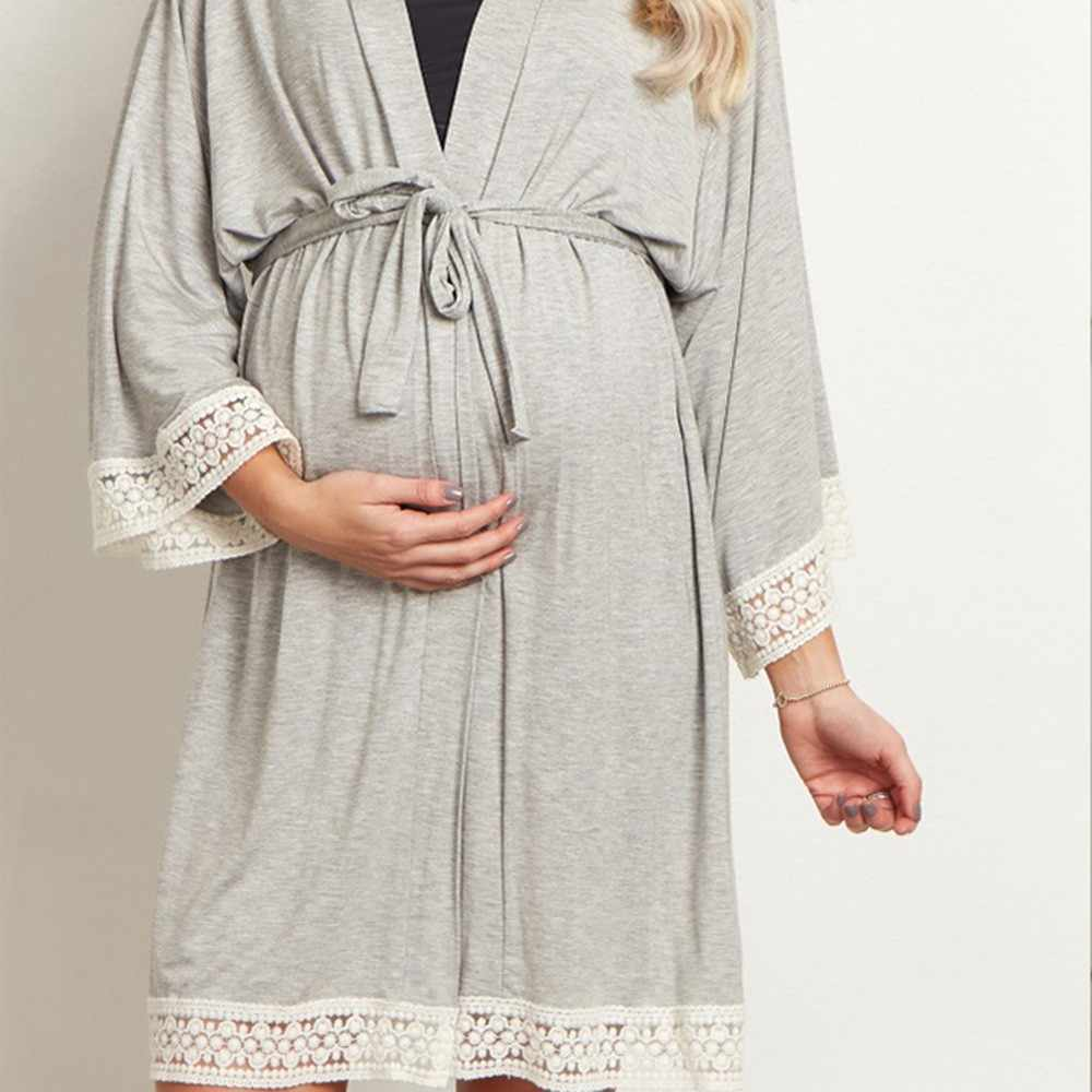 MUQGEW Women Maternity Dress Nursing Nightgown Breastfeeding Nightshirt Lace Sleepwear clothes for pregnant women Dropshipping